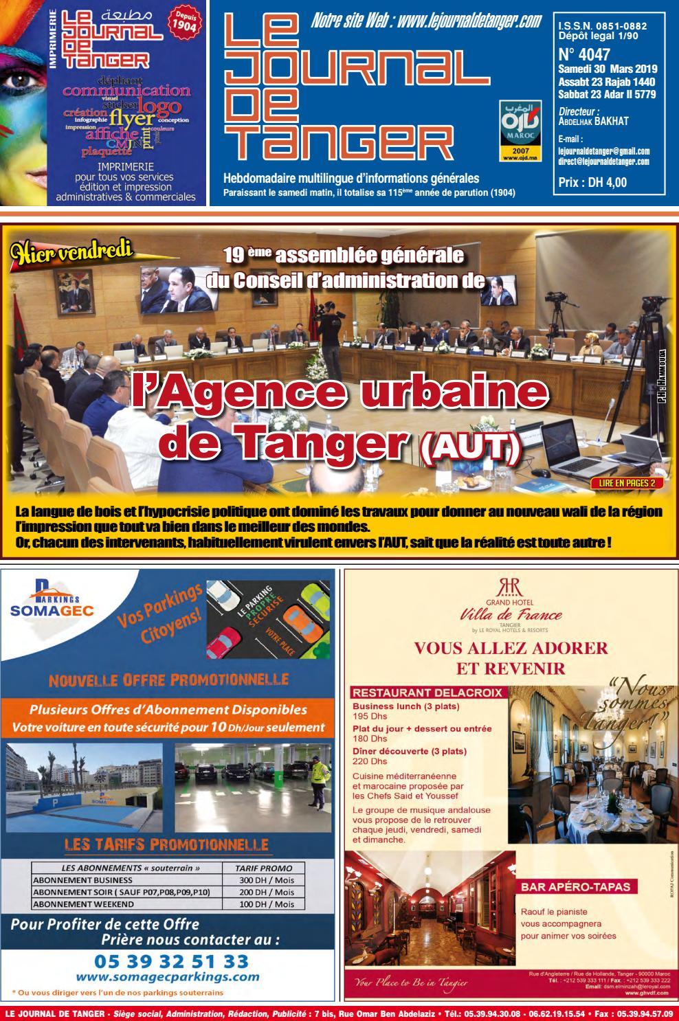 0ef7a4361 Le journal de Tanger 30 Mars 2019 by Le Journal de Tanger - issuu