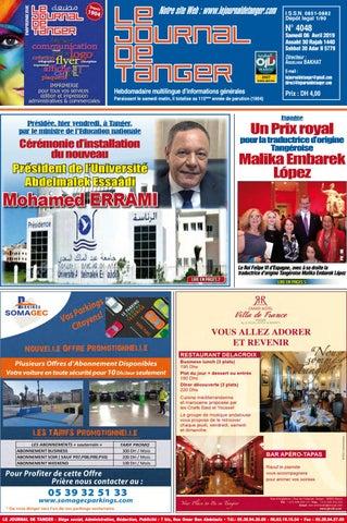 743e3e0a3 Le journal de Tanger 06 Avril 2019 by Le Journal de Tanger - issuu