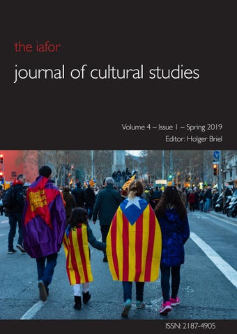Iafor Journal Of Cultural Studies Volume 4 Issue 1 Spring 2019