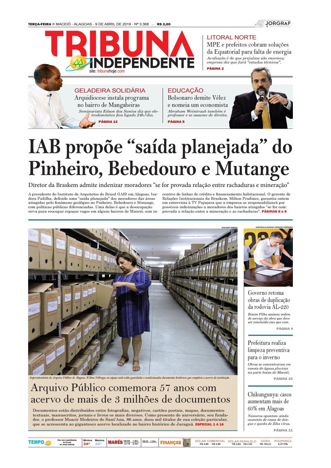 04f888900 Edição número 3368 - 9 de abril de 2019 by Tribuna Hoje - issuu