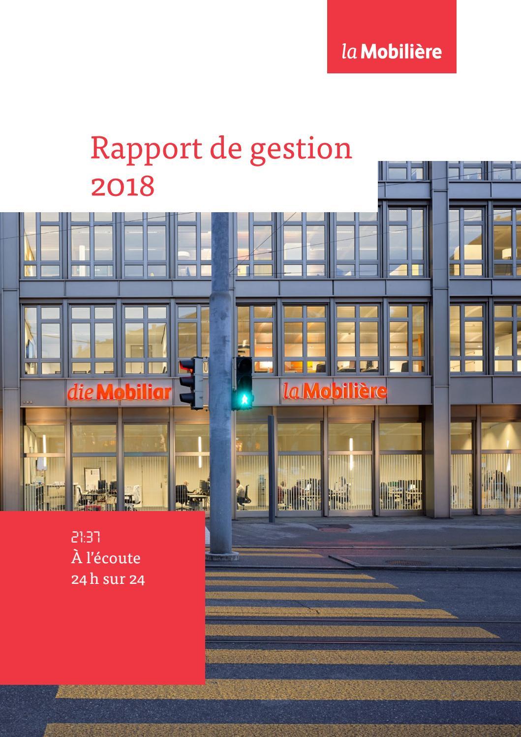 foto de Rapport de gestion 2018 by Die Mobiliar | La Mobilière | La ...