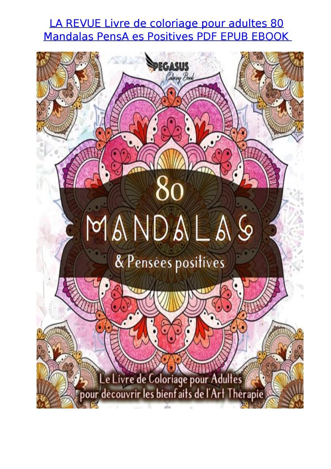 Revue Coloriage Adulte.La Revue Livre De Coloriage Pour Adultes 80 Mandalas Pensa
