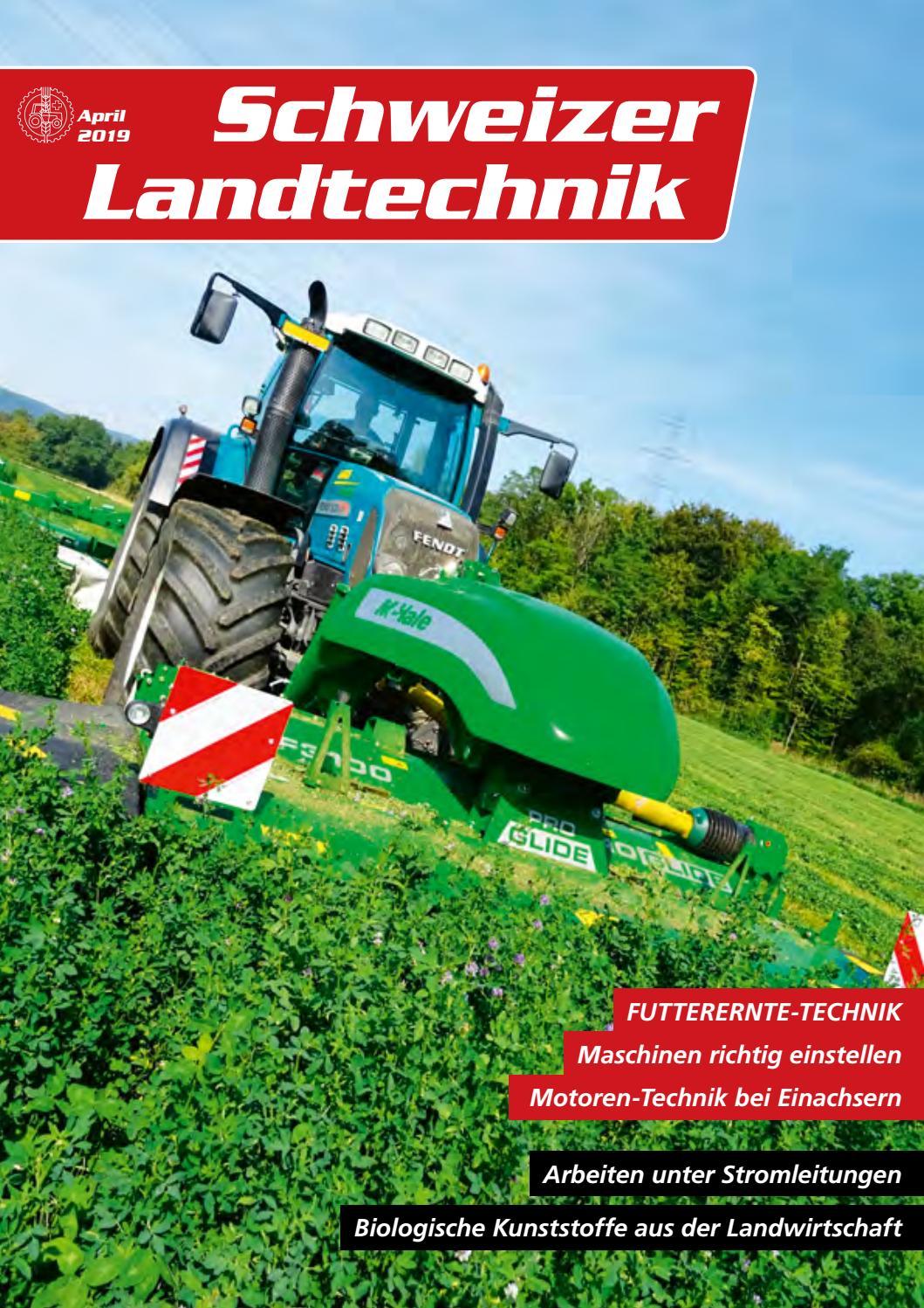 Schweizer Landtechnik 04/2019 by Schweizerischer Verband für ...