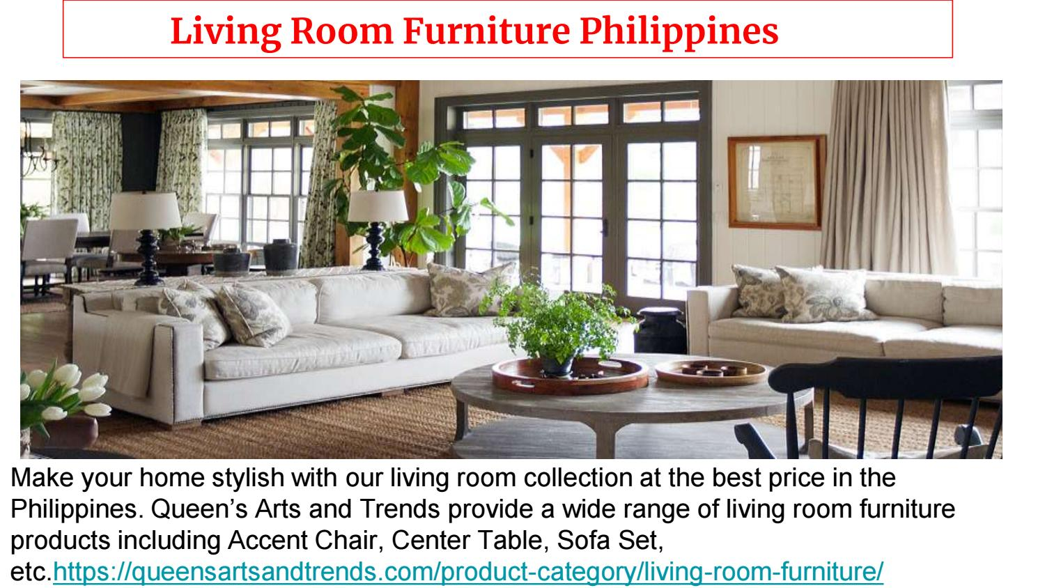 Modern Living Room Furniture Philippines - Queens Arts And Trends By  Queensartsandtrends - Issuu