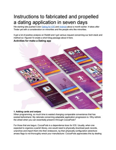 Instructions to fabricated and propelled a dating application in