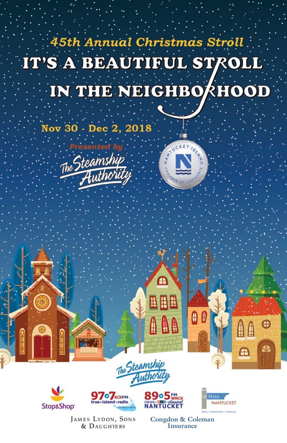 2018 Nantucket Christmas Stroll Program By Ackchamber Issuu