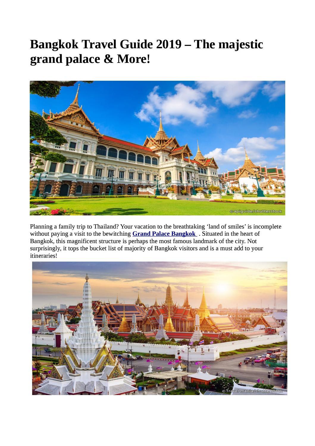 Bangkok Travel Guide 2019 – The majestic grand palace & More