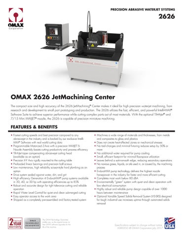 Ficha Técnica OMAX 2626 (EN) by Weld Vision - issuu