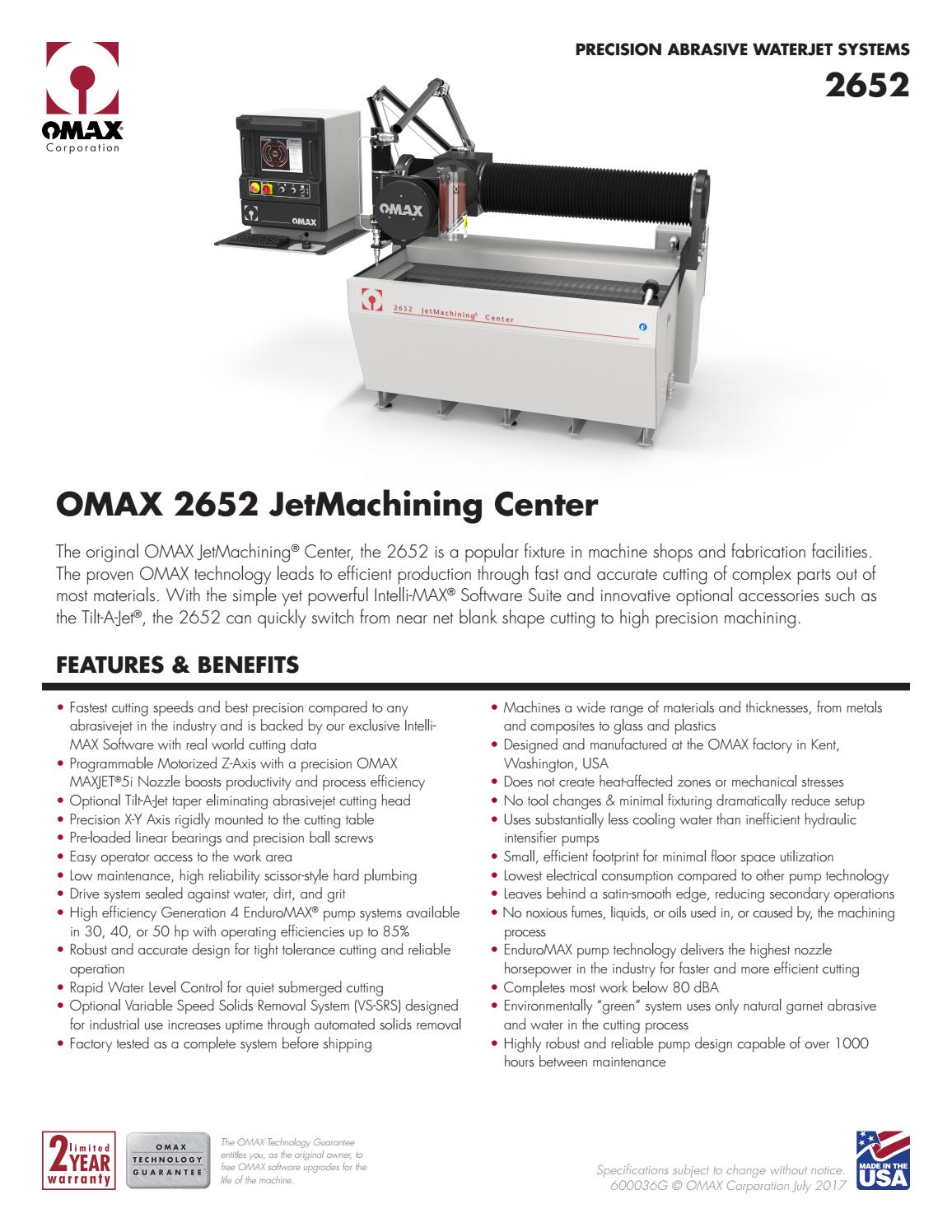 Ficha Técnica OMAX 2652 (EN) by Weld Vision - issuu