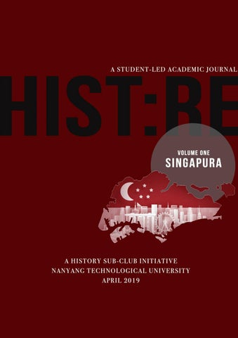 HIST:RE Publication Journal Issue 1 by NTU SoH History Sub