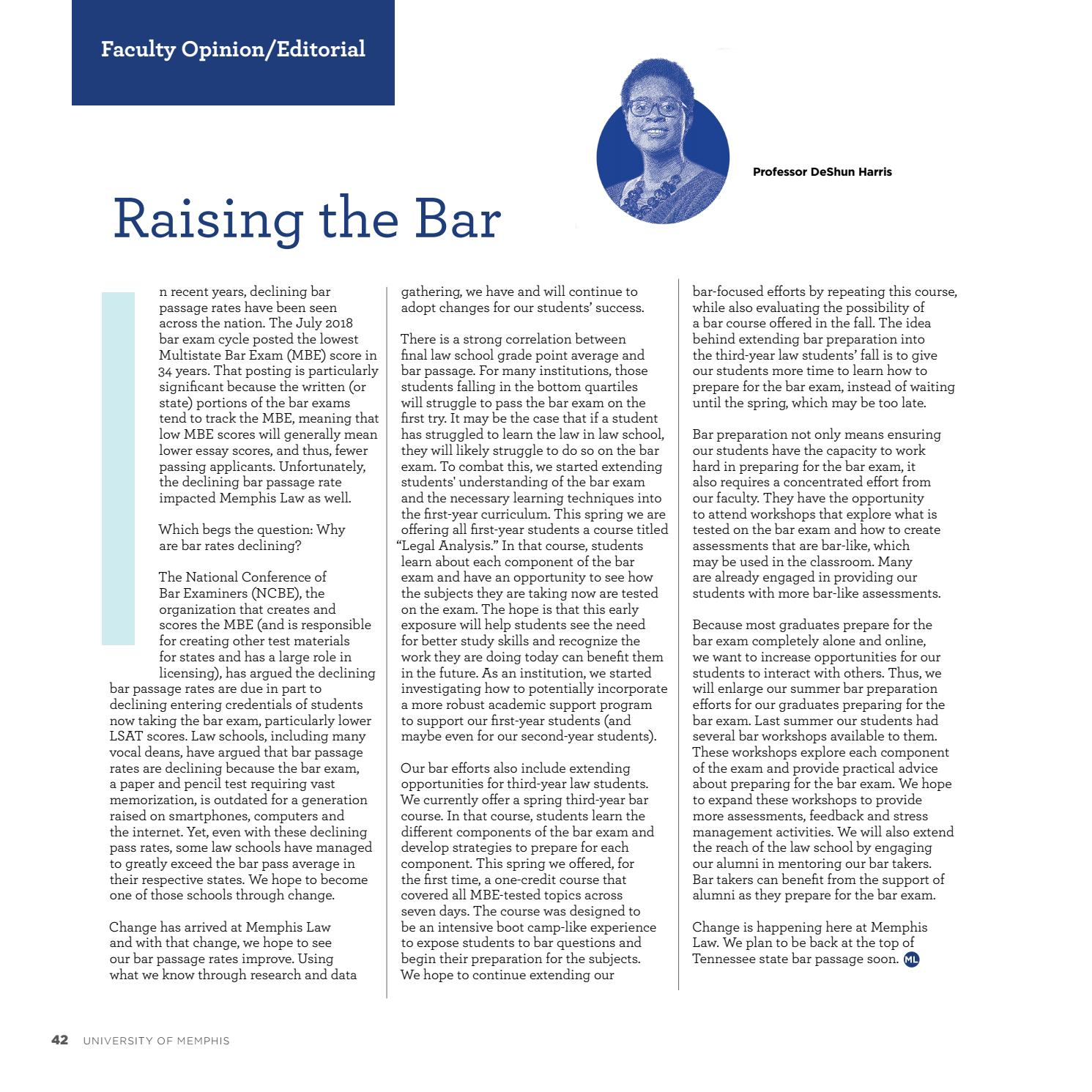 Memphis Law Spring 2019 by University of Memphis - issuu