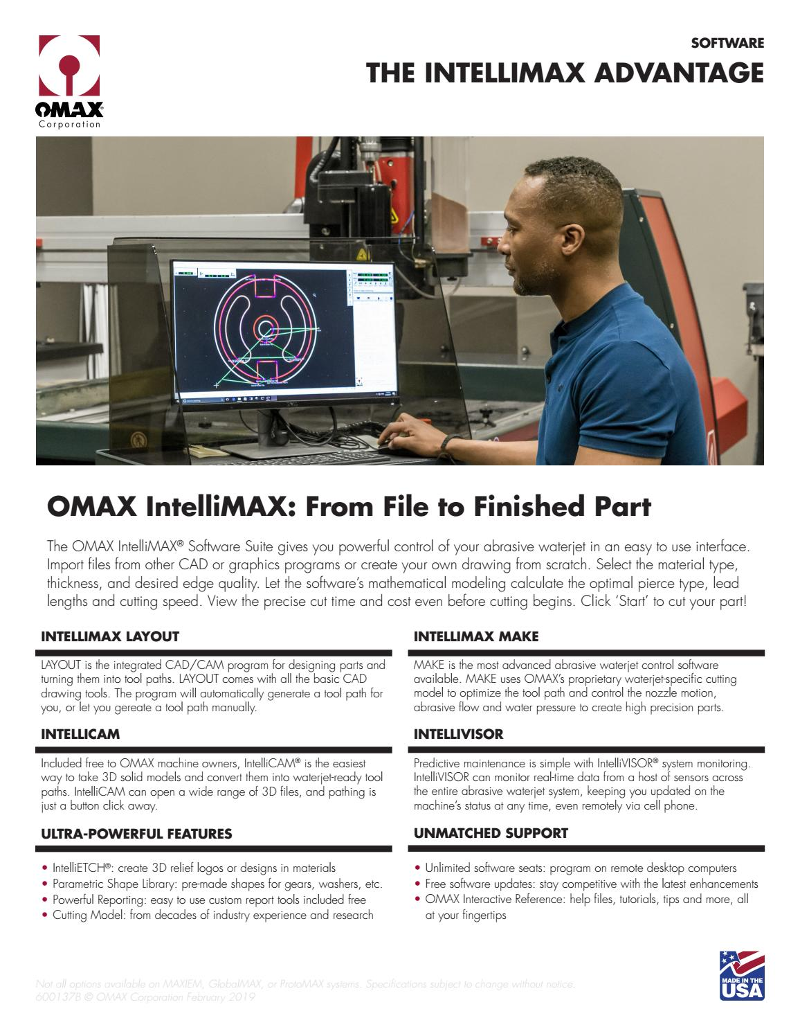 Ficha Técnica OMAX IntelliMAX (EN) by Weld Vision - issuu