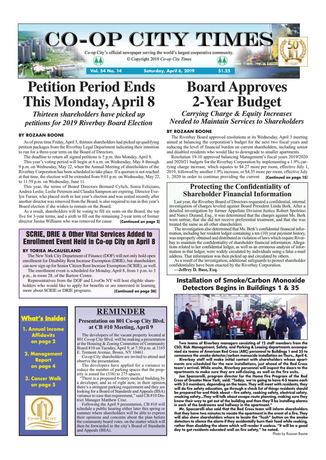 Co-op City Times 4/6/19 by Co-op City Times - issuu