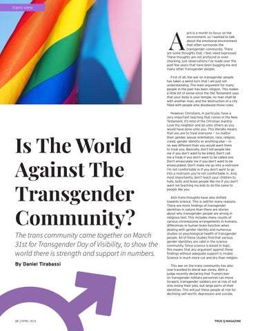 Page 12 of Is The World Against The Transgender Community?