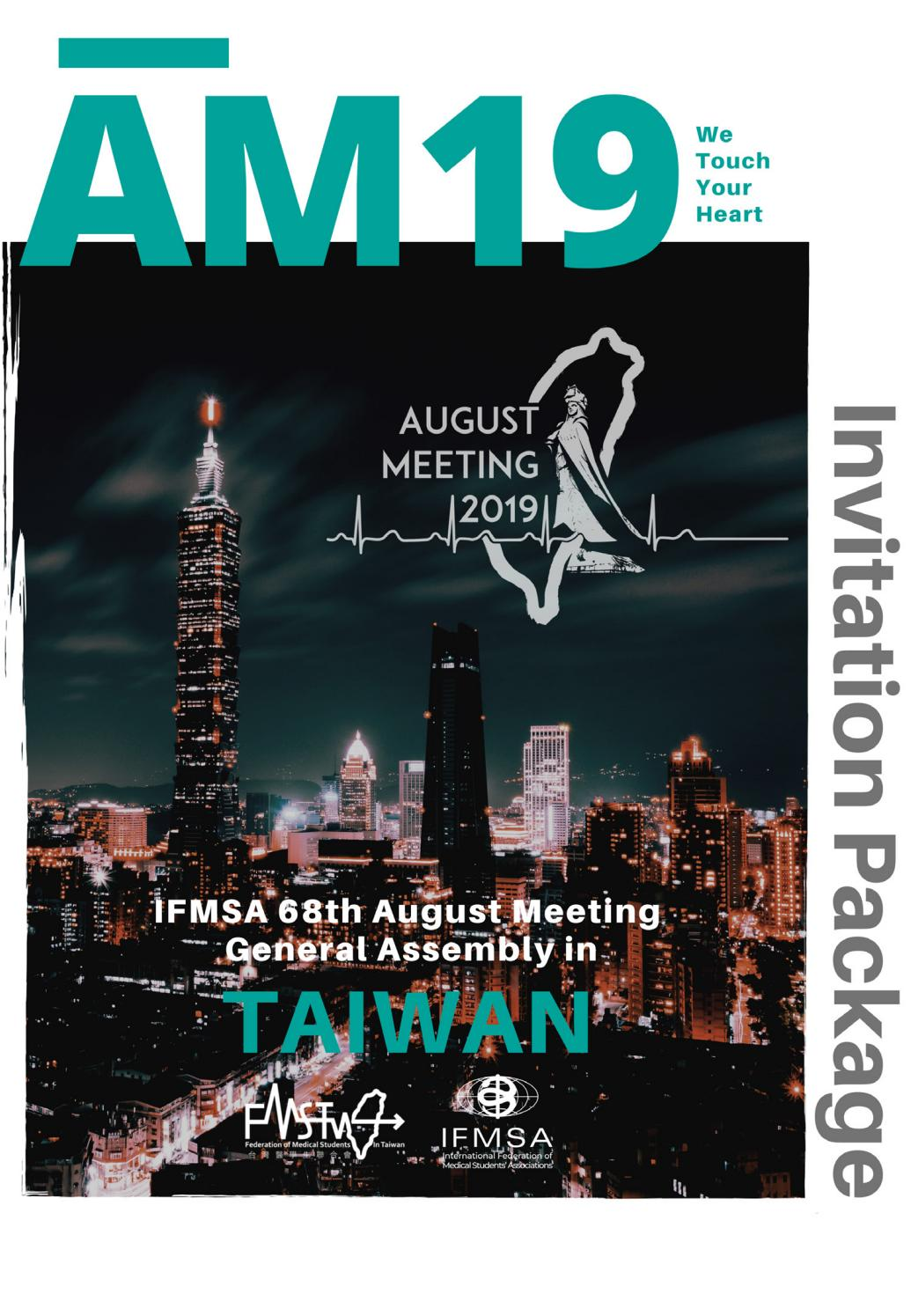 IFMSA August Meeting 2019 - Invitation Package by