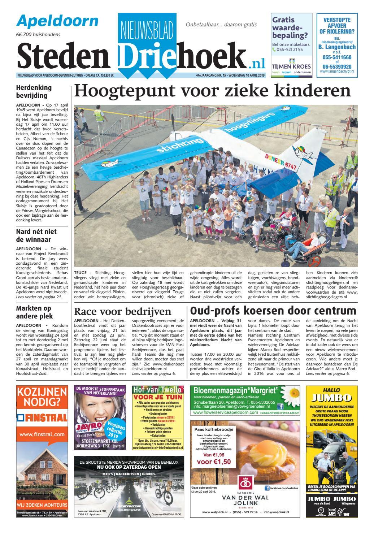19e0abd995d575 Nieuwsblad Stedendriehoek Apeldoorn wk15-2019 by Uitgeverij Stedendriehoek  - issuu