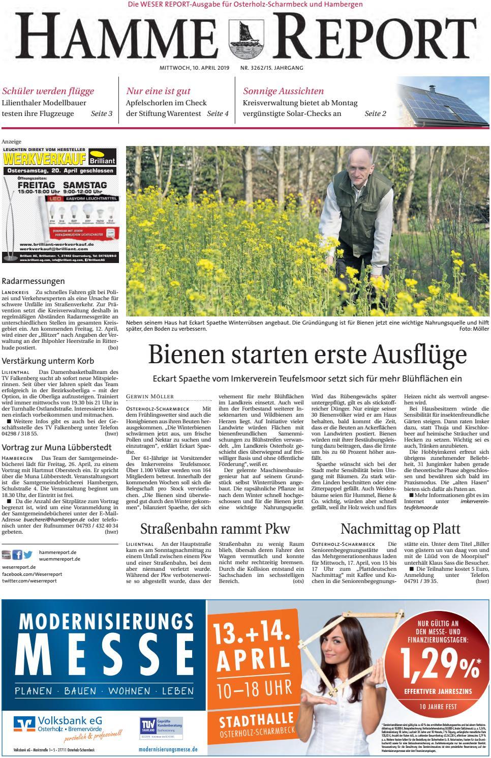 Hamme Report Vom 10042019 By Kps Verlagsgesellschaft Mbh