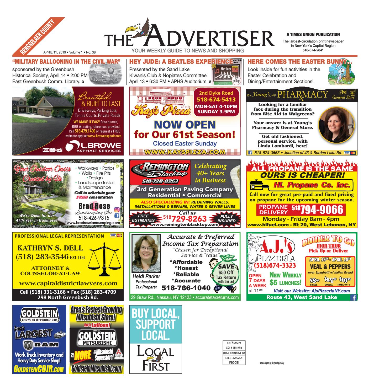 Local First The Advertiser 041119 by Capital Region Weekly