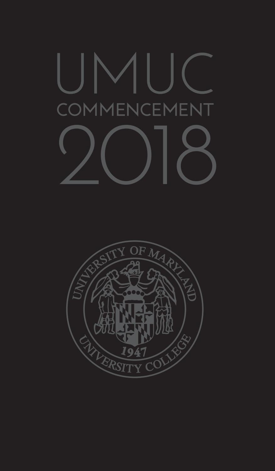 UMUC 2018 Winter Commencement Program by University of Maryland