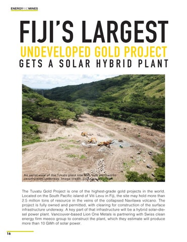 Page 16 of Fiji's Largest Undeveloped Gold Project Gets a Solar Hybrid Plant