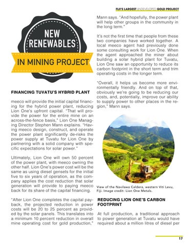 Page 17 of Fiji's Largest Undeveloped Gold Project Gets a Solar Hybrid Plant