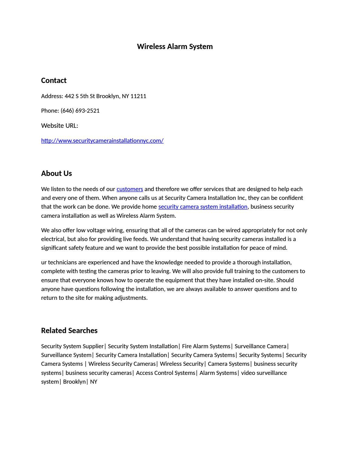 Wireless Alarm System by Wireless Alarm System - issuu