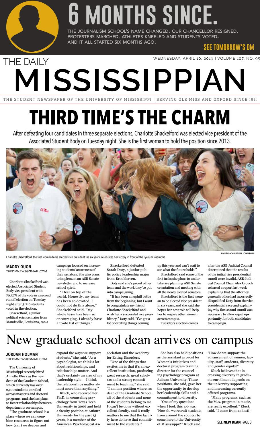 newest 110d9 b4914 The Daily Mississippian - April 10, ...