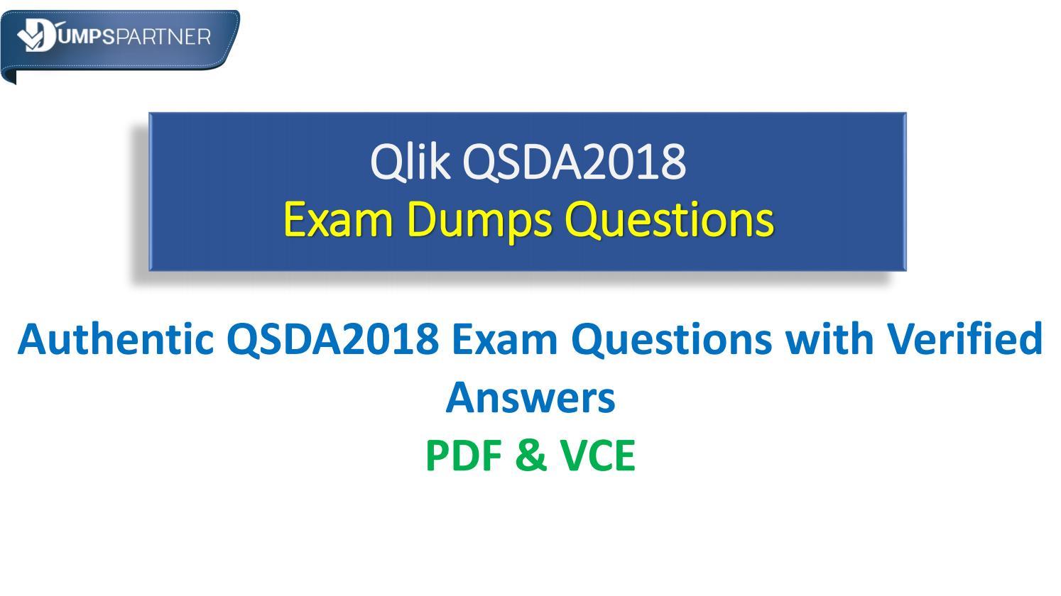 Real QSDA2018 Cheat Sheet Questions for Guaranteed Success