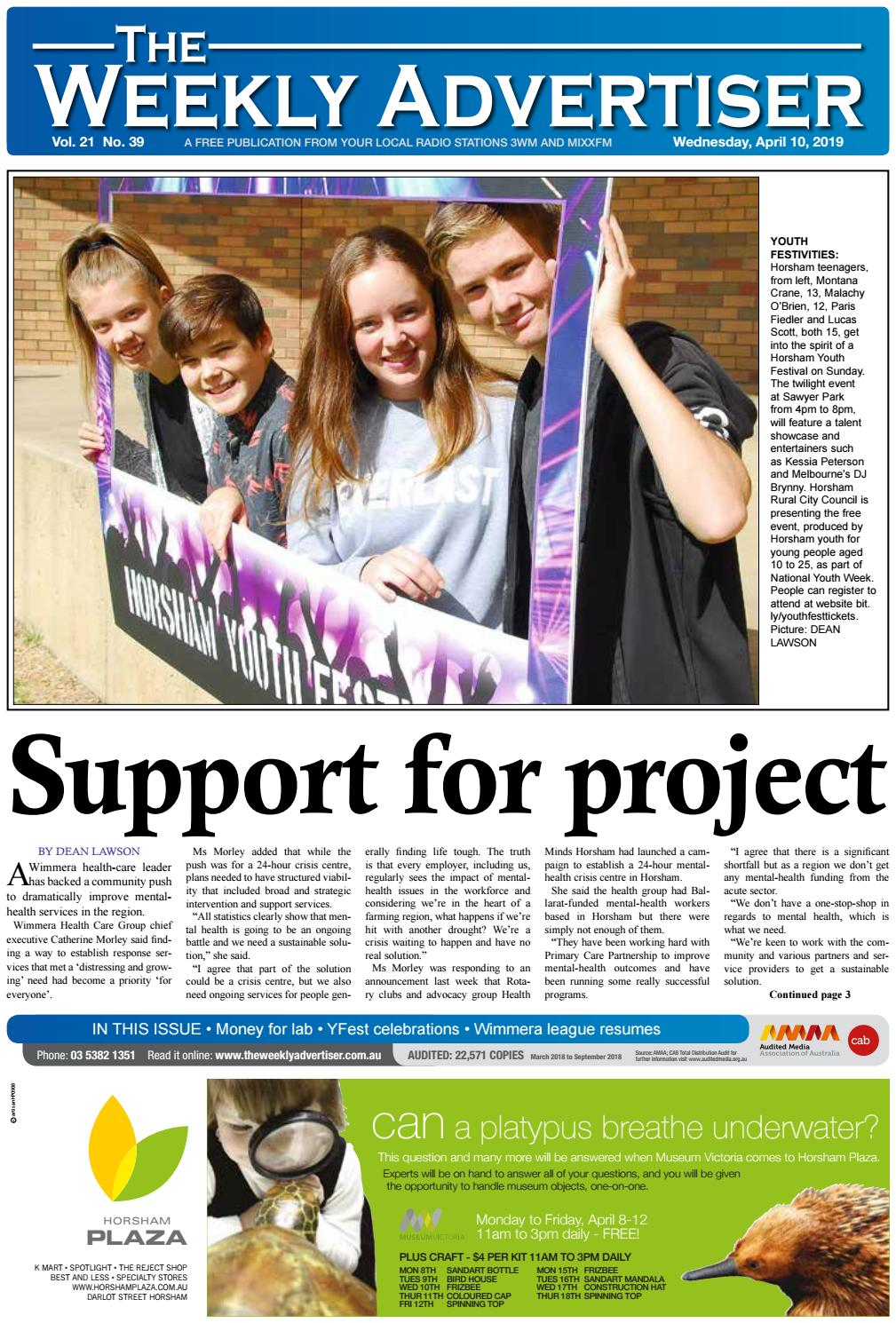 The Weekly Advertiser Wednesday April 10 2019 By The Weekly Advertiser Issuu