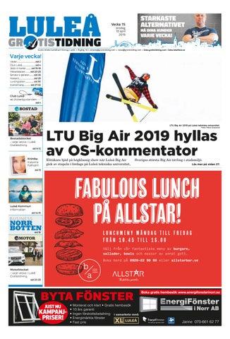 22bc154cdc74 Luleå Gratistidning vecka 15, 2019 by Svenska Civildatalogerna AB ...