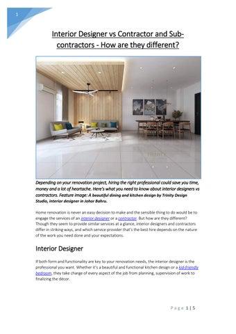 Outstanding Interior Designer Vs Contractor And Sub Contractors How Home Interior And Landscaping Synyenasavecom