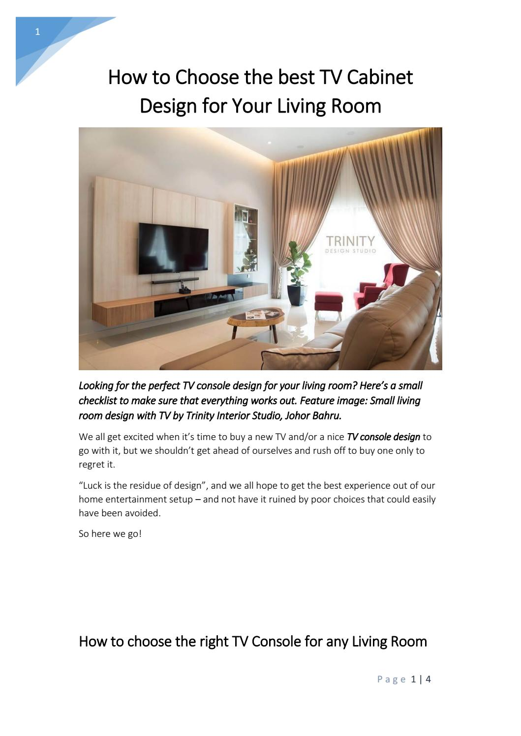How To Choose The Best Tv Cabinet Design For Your Living Room By Justin Foong Issuu