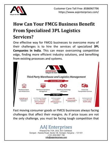 How Can Your FMCG Business Benefit From Specialized 3PL
