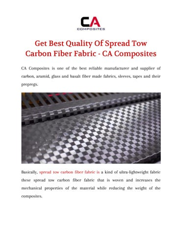 Get Best Quality Of Spread Tow Carbon Fiber Fabric - CA