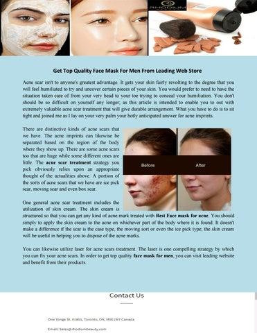 Acne Scar Treatment By Rhodium Beauty Issuu