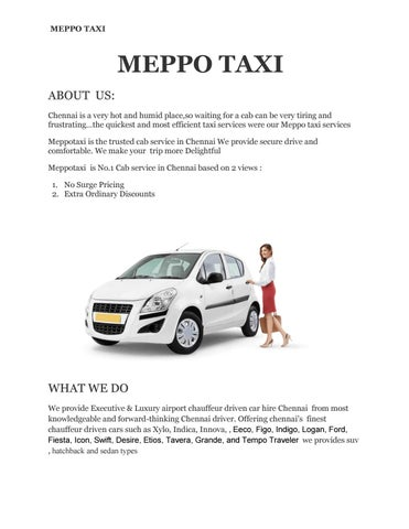 Out Station Taxi Service By Meppo Taxi Issuu