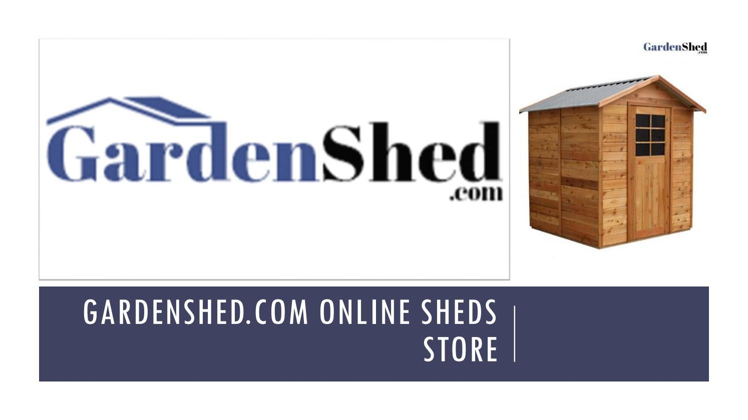 Small Garden Sheds, Timber Sheds, Easy Sheds Online by