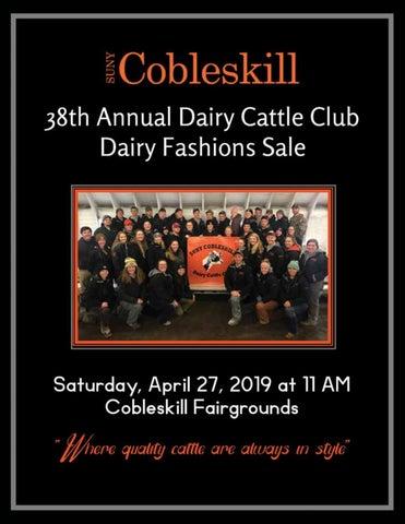 db8264e512a1 Suny Cobleskill 38th Annual Dairy Cattle Club Dairy Fashions Sale ...