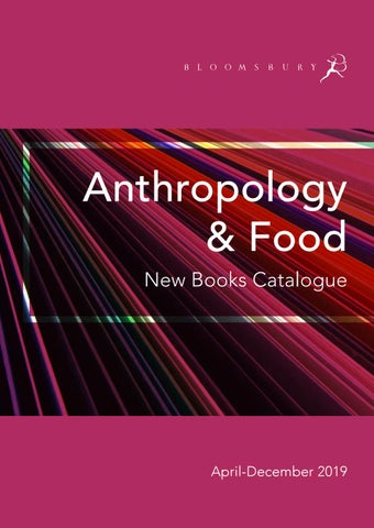 Anthropology & Food Catalogue April-December 2019 by