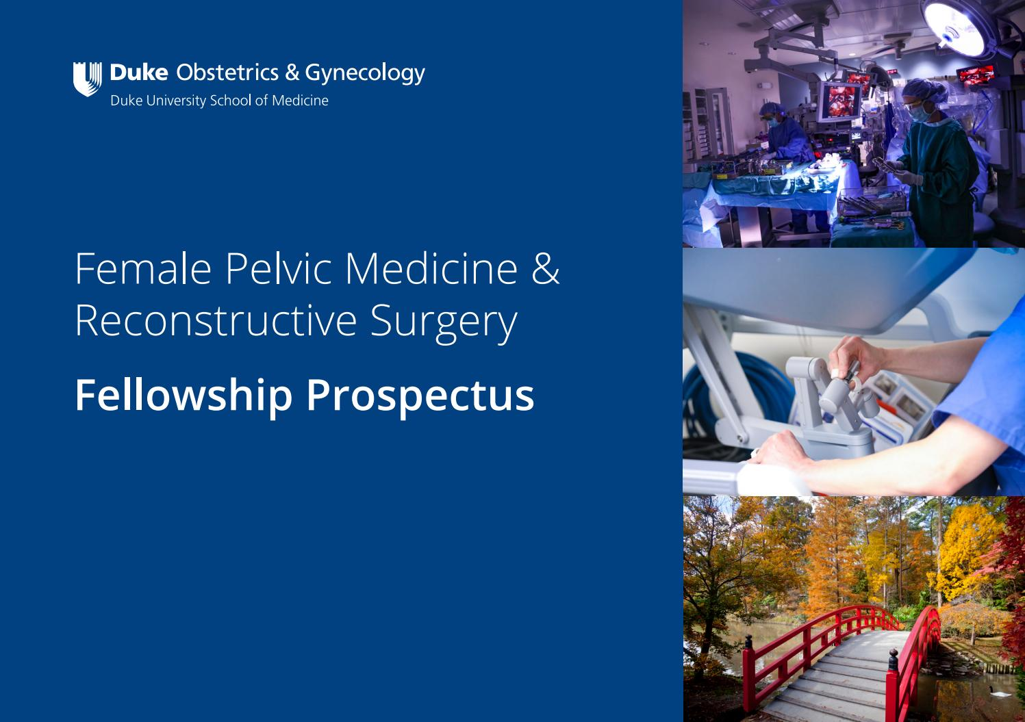 Duke Ob/Gyn FPMRS Fellowship Prospectus by dukeobgyn - issuu