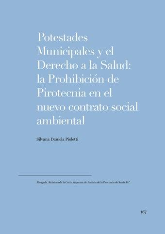 """Page 167 of Silvana Poletti, """"Potestades Municipales y el Derecho a la Salud: la Prohibición de Pirotecnia en el nuevo contrato social ambiental"""""""