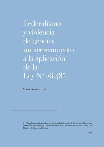 Page 201 of María Lina Carrera, Federalismo y violencia de género: un acercamiento a la aplicación de la Ley N° 26.485