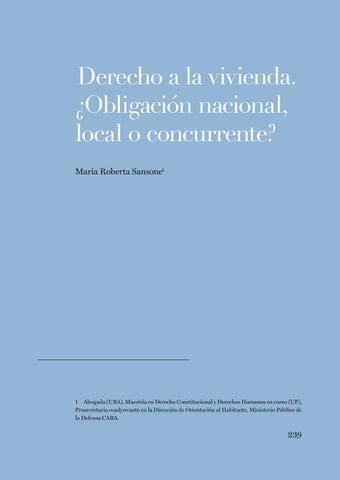 Page 239 of Roberta Sansone, Derecho a la vivienda. ¿Obligación nacional, local o concurrente?