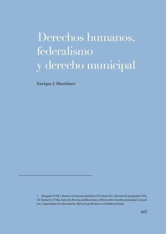 """Page 267 of Enrique J. Marchiaro, """"Derechos humanos, federalismo y derecho municipal"""""""