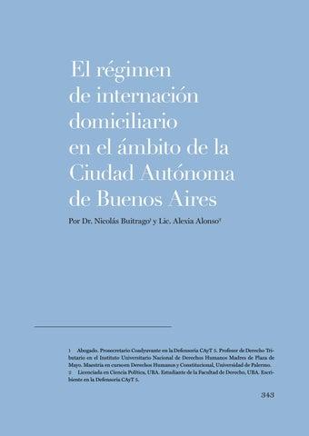"""Page 343 of Nicolas Buitrago y Alexia Alonso, """"El régimen de internación domiciliario en el ámbito de la Ciudad Autónoma de Buenos Aires"""""""