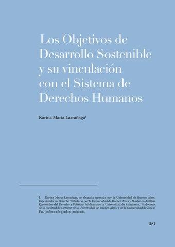 """Page 381 of Karina Larrañaga, """"Los Objetivos de Desarrollo Sostenible y su vinculación con el sistema de DDHH"""""""