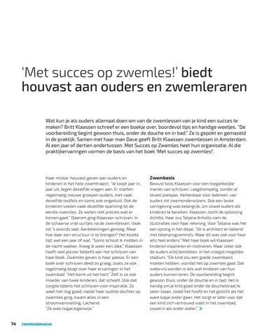 Page 14 of 'Met succes op zwemles' biedt houvast aan ouders en zwemleraren