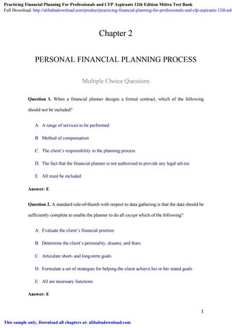 Cfp investment planning sample questions sm investments corporation stock price