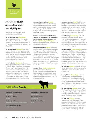 Page 22 of Faculty Spotlight