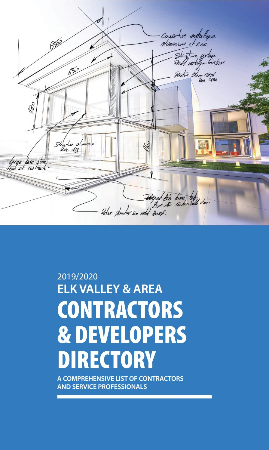 Contractors & Developers Directory by The Free Press, Fernie